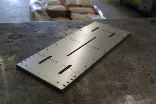 Aluminum part used cut on waterjet.