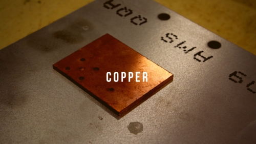 copper part cut using a cnc waterjet machine